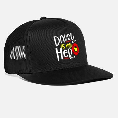 Father And Daughter Daddy Is My Hero Daughter Father - Trucker Cap