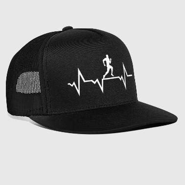 Running Man & Heartbeat - Trucker Cap