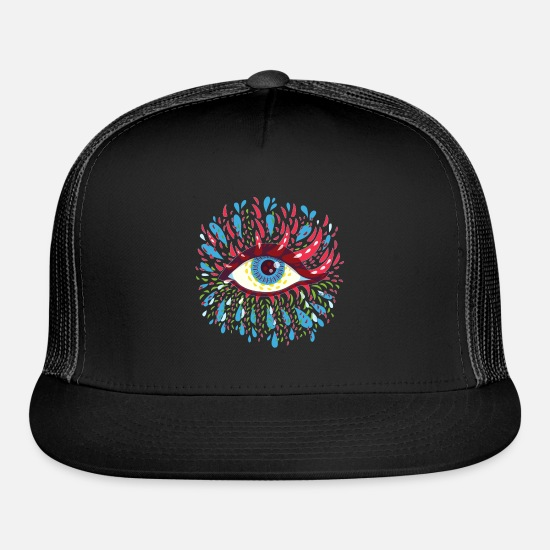 Eye Caps - eye beautiful - Trucker Cap black/black