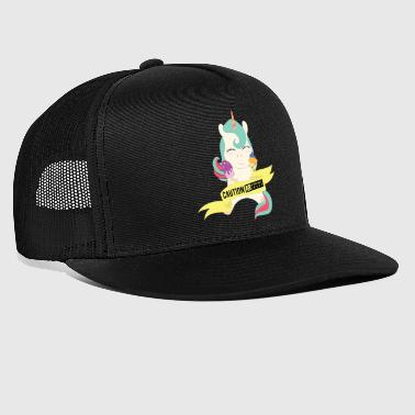 Caution extremely sweet unicorn - Trucker Cap