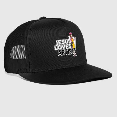 Female Artist - Jesus Loves - Trucker Cap