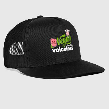 Cow Vegan - Vegan for the voiceless (Pig and Cow) - Trucker Cap