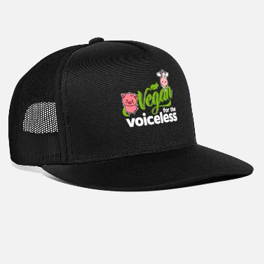 Animal Rights Vegan - Vegan for the voiceless (Pig and Cow) - Trucker Cap