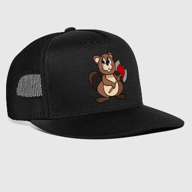Beaver With Axe - Trucker Cap