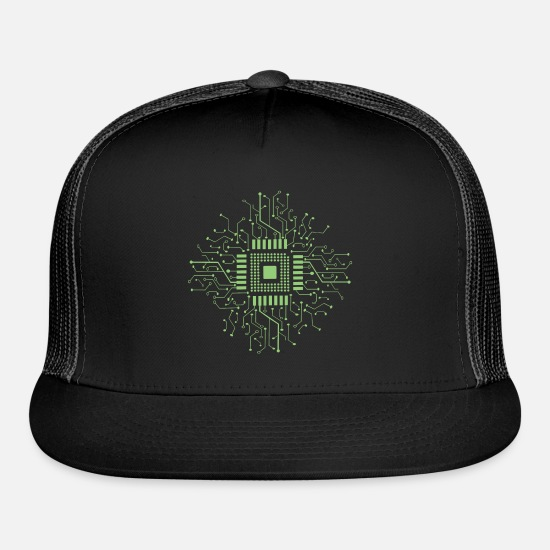 Circuit Caps - Microcontroller electronics - Trucker Cap black/black