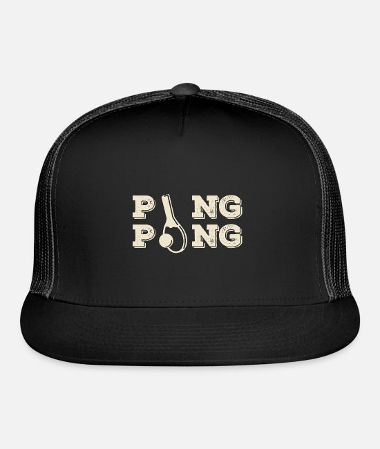 Tennis Caps & Hats - Ping Pong - Trucker Cap black/black
