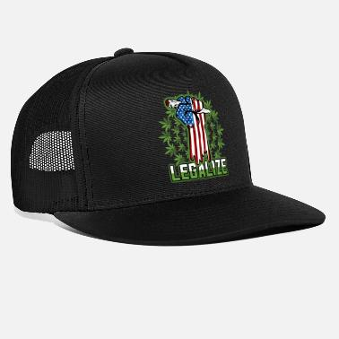 Marijuana Legalize Marijuana Pot Smoker - Trucker Cap