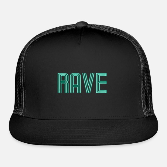 Dancing Caps - rave - Trucker Cap black/black