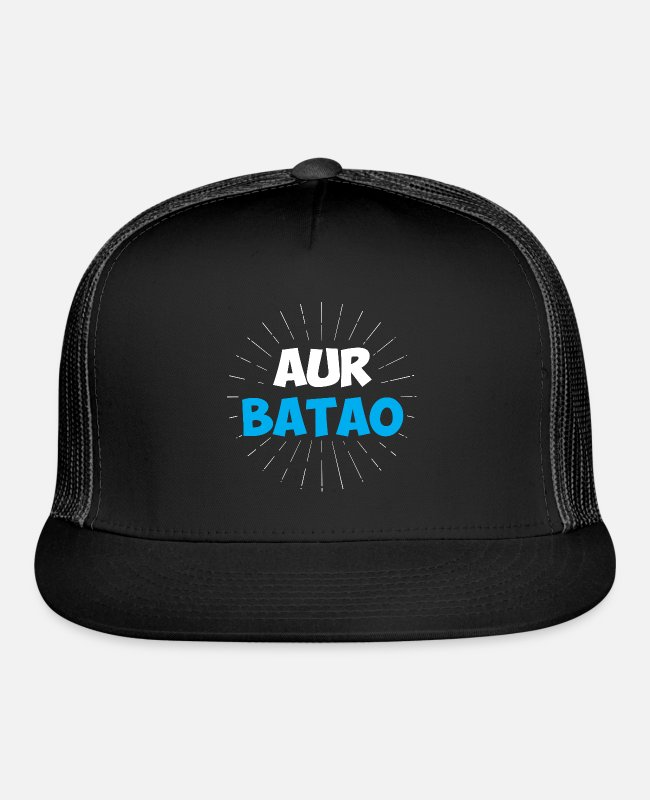 Namaste Caps & Hats - Aur Batao - Funny Hindi Saying - Trucker Cap black/black