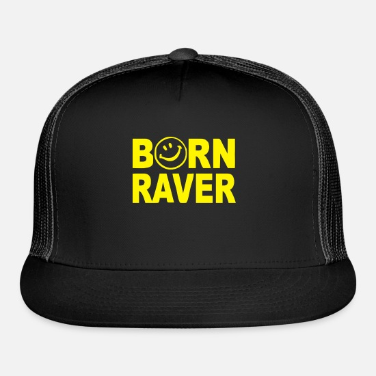 Game Caps - Born Raver - Trucker Cap black/black