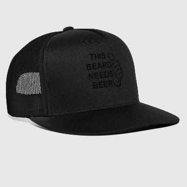 This Guy Needs A Beer this beard needs beer 2 - Trucker Cap