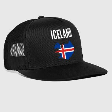 Icelander Gift - Iceland Map Country - Trucker Cap