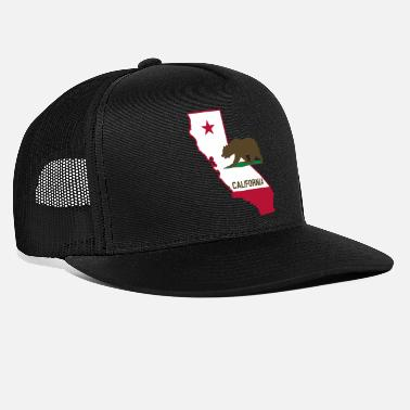 State CALIFORNIA STATE WITH STATE BEAR - Trucker Cap