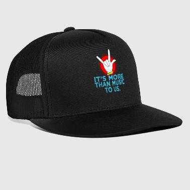 hand gesture music cool gift idea - Trucker Cap