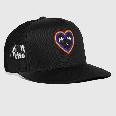 Equality Mr. and Mr. Gay Marriage - Trucker Cap