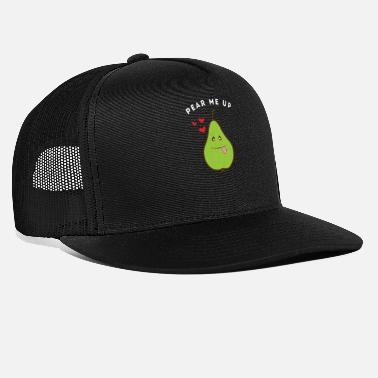 Pear Funny Pear Me Up Adorable Illustration - Trucker Cap