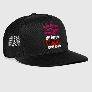 Supermom Mother Word Words Mama Mami Love Son Daughter - Trucker Cap