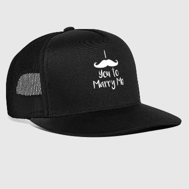 Marriage Proposal Mustache You To Marry Me - Trucker Cap