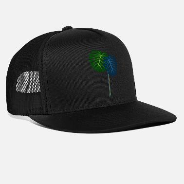Stalking monstera leaves blue green gift idea - Trucker Cap