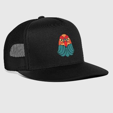 Eagle Hawk Abstract colorful flying bird of prey - Trucker Cap