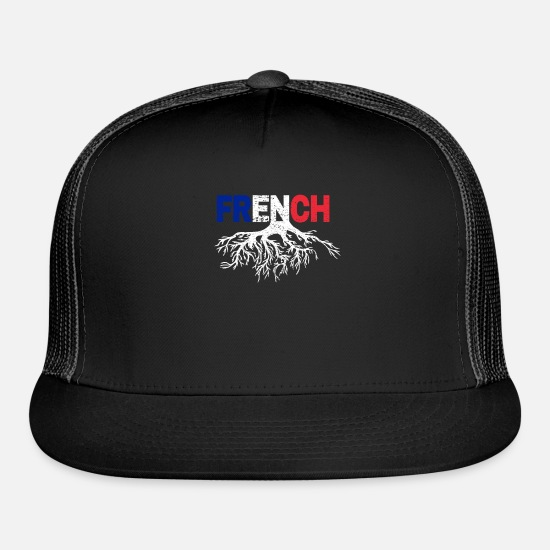 National Caps - French Roots - Trucker Cap black/black