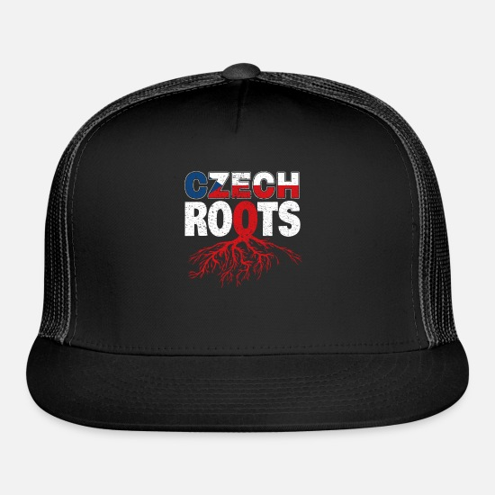 Roots Caps - Roots Czech Republic Czech flag - Trucker Cap black/black