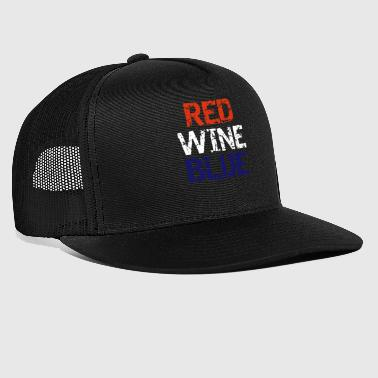 Red Wine Patriotic Red Wine and Blue - Trucker Cap