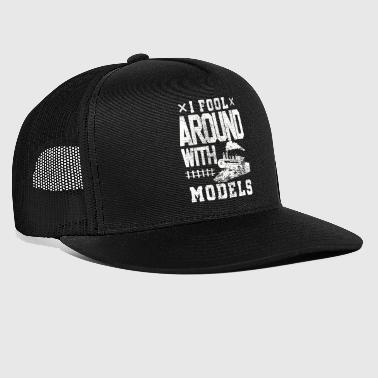 Training Model train train trains - Trucker Cap