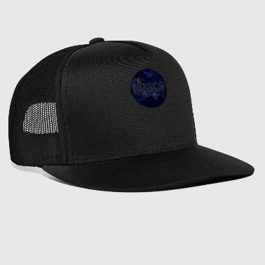 Ecology Save the Earth Peace Night Globe - Trucker Cap
