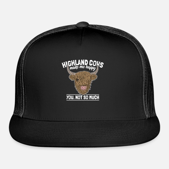 eb6dcd5e15d Highland Cattle Funny Cow Saying Farmer Gag Gift Trucker Cap ...