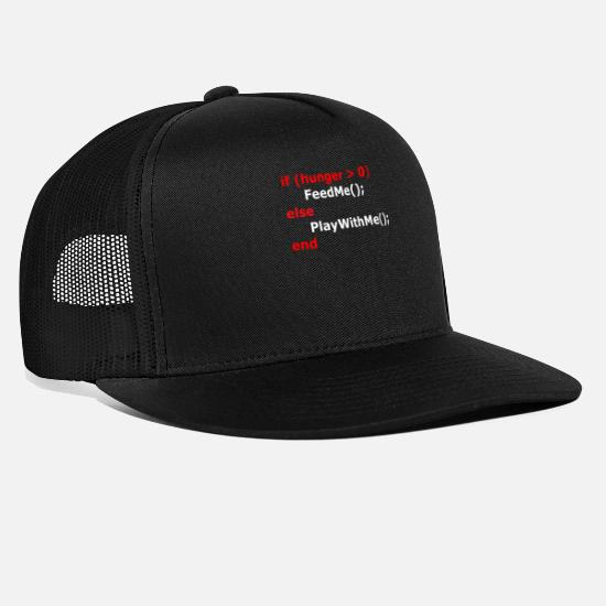 Programmer Caps - Coding If Hunger - Trucker Cap black/black