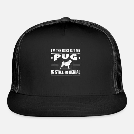 Dog Owner Caps - Hilarious Pug Saying Doggie School Dog Training - Trucker Cap black/black