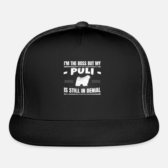 Dog Owner Caps - Funny Puli Doggie School Dog Training Gag Gift - Trucker Cap black/black