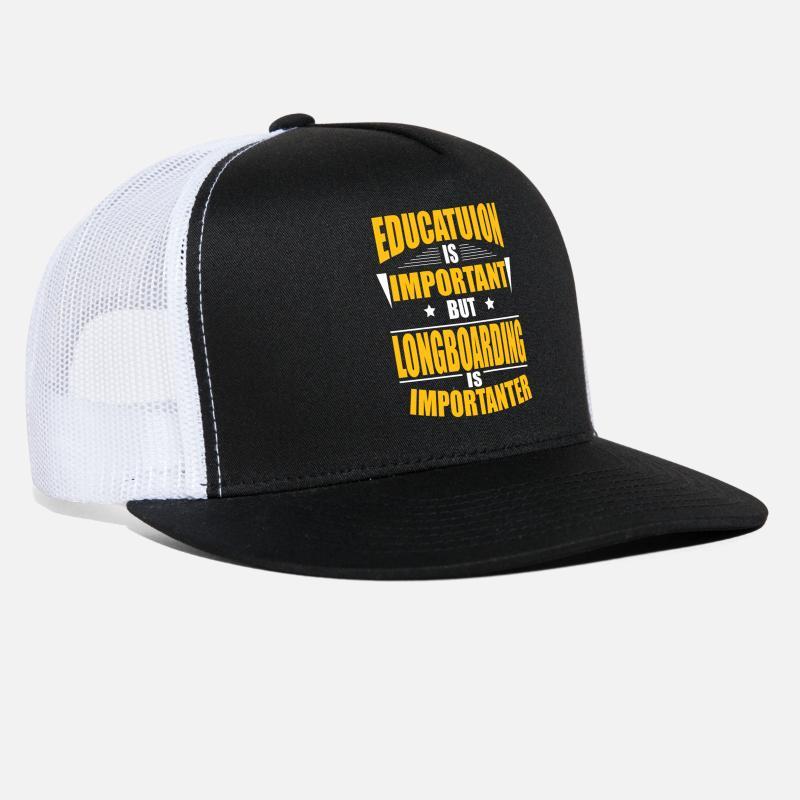 9511eb78b5712a LONGBOARDING IS IMPORTANTER Trucker Cap   Spreadshirt