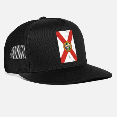 Coat Of Arms Usa Florida flag coat of arms - Trucker Cap