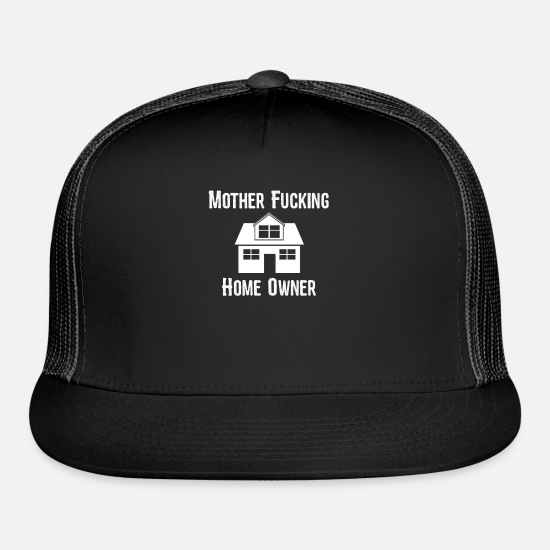 Offensive Caps - Offensive Mother Fucking Home Owner - Trucker Cap black/black