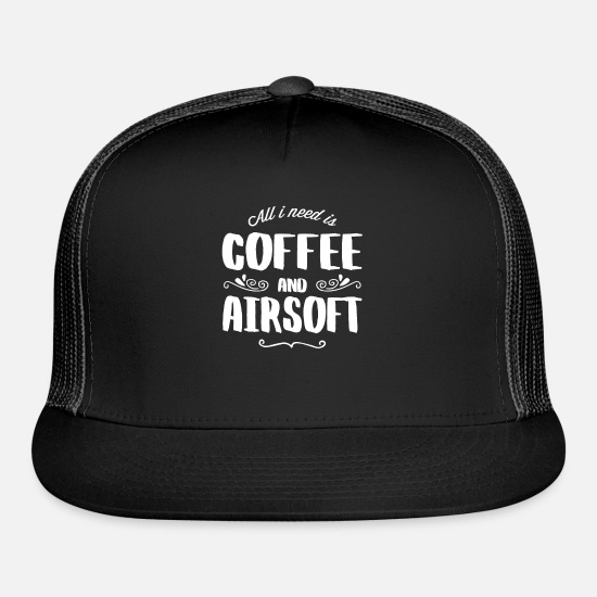 Coffee Bean Caps - Airsoft & Coffee - Trucker Cap black/black