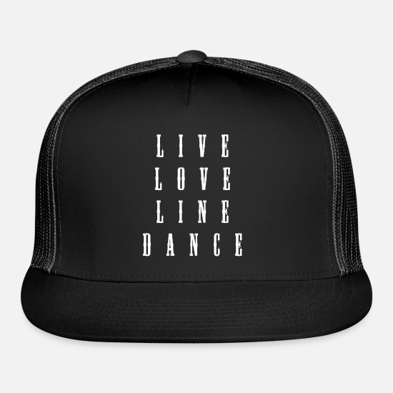 Dance Caps - Line Square Country Dance - Trucker Cap black/black