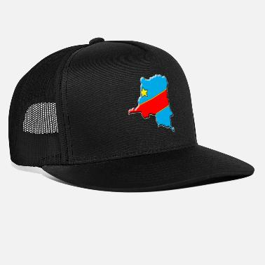 Congo Congo - Congo Flag map - Trucker Cap