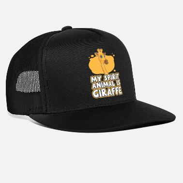 Giraffe Giraffe animal zoo africa big long neck safari - Trucker Cap