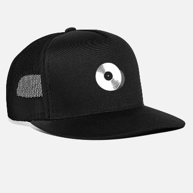 I Love Music Record with shadow - Trucker Cap