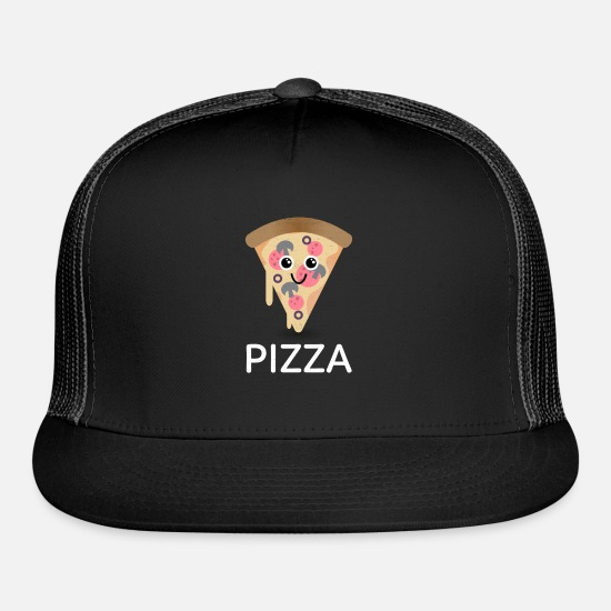 Pizza Caps - Pizza - Trucker Cap black/black
