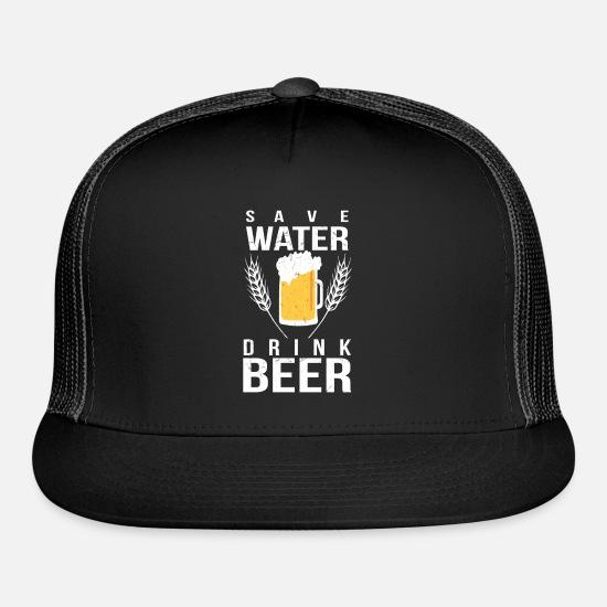 0fc6de046b5 Funny Beer Shirt Save Water Drink Beer Trucker Cap | Spreadshirt