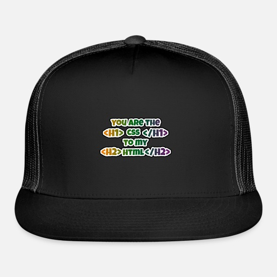 Love Caps - You are the CSS to my HTML - Trucker Cap black/black