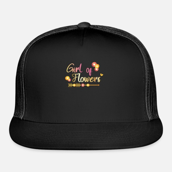 Bride Caps - cool flower girl wedding flower child gift - Trucker Cap black/black