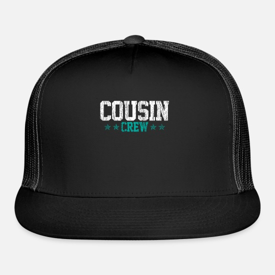 Family Reunion Caps - Cousin Crew Star Family Relative Reunion - Trucker Cap black/black