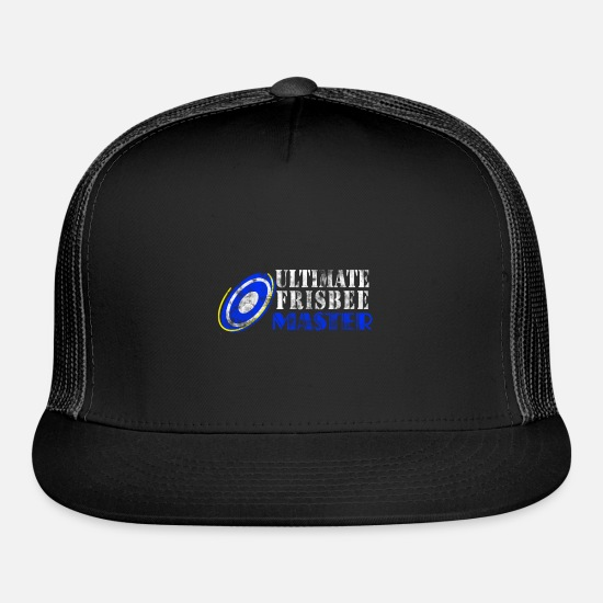 Game Caps - Frisbee Ultimate Frisbee Sport Hobby - Trucker Cap black/black