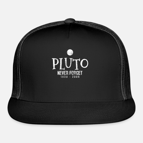 Science Caps - Pluto Planet Science Scientist - Trucker Cap black/black