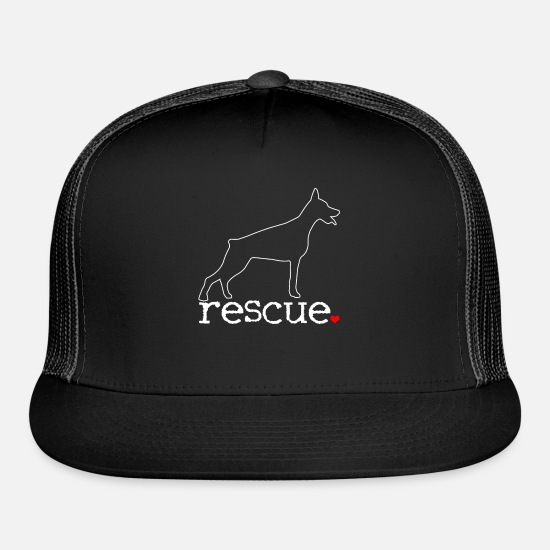 Cruelty Caps - Doberman Dog Rescue Team - Trucker Cap black/black