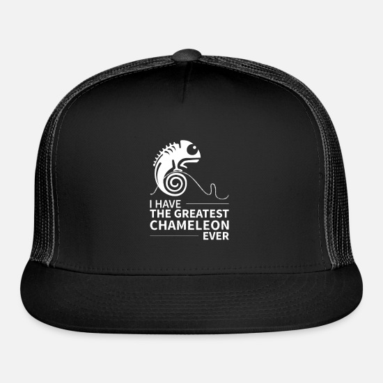 Gift Idea Caps - Chameleon Chameleon Colourful Reptile Colours - Trucker Cap black/black